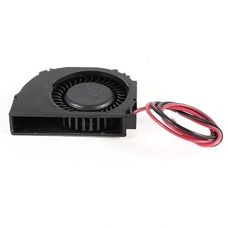 Ordenador portátil 2 Terminales CPU refrigerador ventilador de ventilador DC 5V 0.15A Negro
