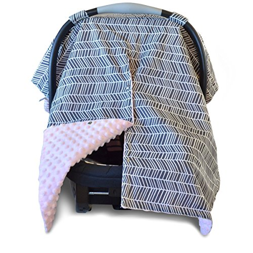 Carseat Nursing Peekaboo Breastfeeding Herringbone