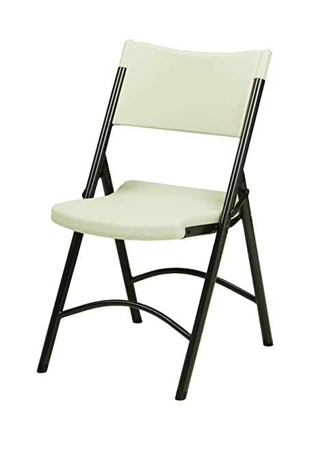Genial Meco 4 Pack Folding Chair With Mocha Metal Frame And Cream Plastic Seat And  Back