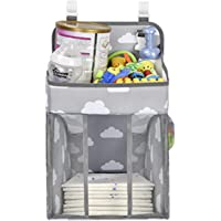 Nappy Caddy | Hanging Nappy Organiser | Baby Diaper Caddy Organizer | Nappy Stacker | Nursery Storage for Change Table…