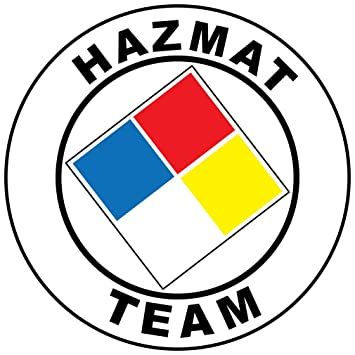 Hazmat Team Hard Hat Labels Plain Reflective Vinyl Reflective