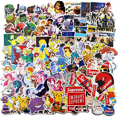 Graffiti Stickers for Comic(200pcs),Classroom Treasure Box Stickers for Kids,DC Waterproof Stickers for Water Bottles,Laptop Random Decals for Adults,Skateboarding,Bicycles,Fixed Gear Bikes,Cars