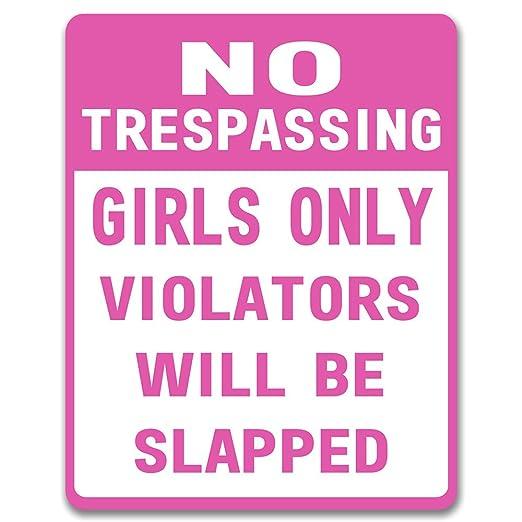 No Trespassing Niñas sólo - Placa de metal para puerta de ...