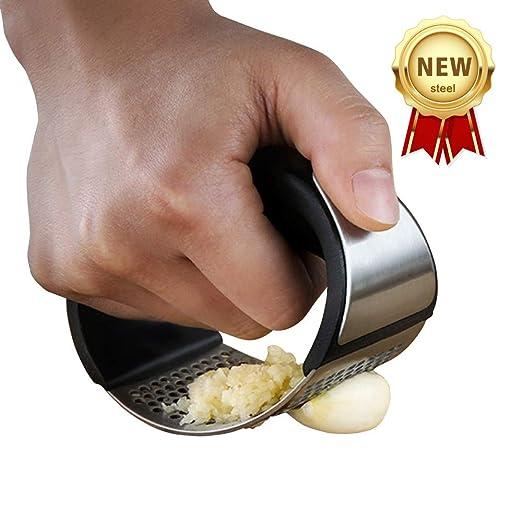 Exprimidor de ajos de acero inoxidable para picar ajos, mecedor ...