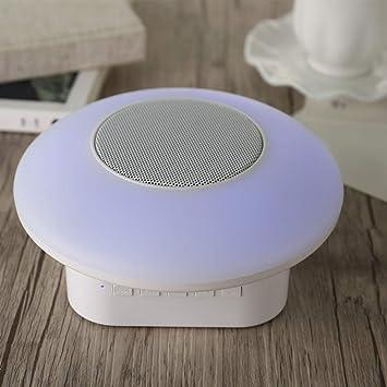 qiyanLa Nueva Caja de Altavoces Bluetooth M7, la luz Nocturna inalámbrica de 7 Colores táctiles, el Enchufe portátil acústico al Aire Libre Pequeños acústicos Altavoces portátiles de Color púrpura: Amazon.es: Electrónica