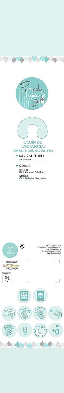 Piccola Casa 66209 - Cojín de lactancia, niñas, color gris y ...