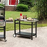 Royal Gourmet Double-Shelf Movable Dining Cart