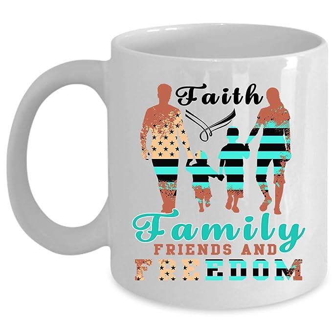 Amazon com: American Flag Coffee Mug, Faith Family Friends