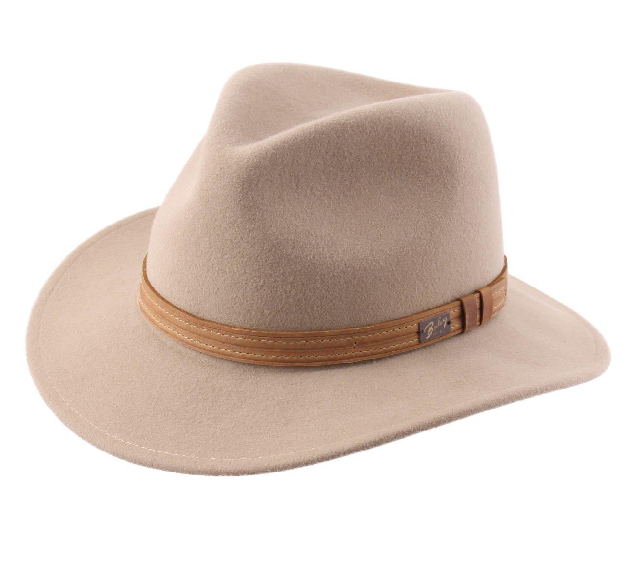 Bailey Of Hollywood Kesey Wool Felt Fedora Hat Size L