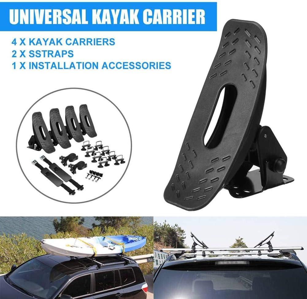 Galerie De Toit De Bateau De Kayak Support Universel pour Porte-Cano/ë pour La Plupart des Barres Transversales Mont/ées sur Un SUV De Voiture