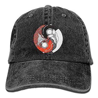 KIOJIANM Yin Yang Koi Baseball Caps Coolk Hats