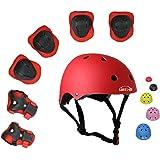 UniqueFit Lucky-M - Juego de 7 Almohadillas Protectoras para Deportes al Aire Libre para niños y niñas (Rodilleras…
