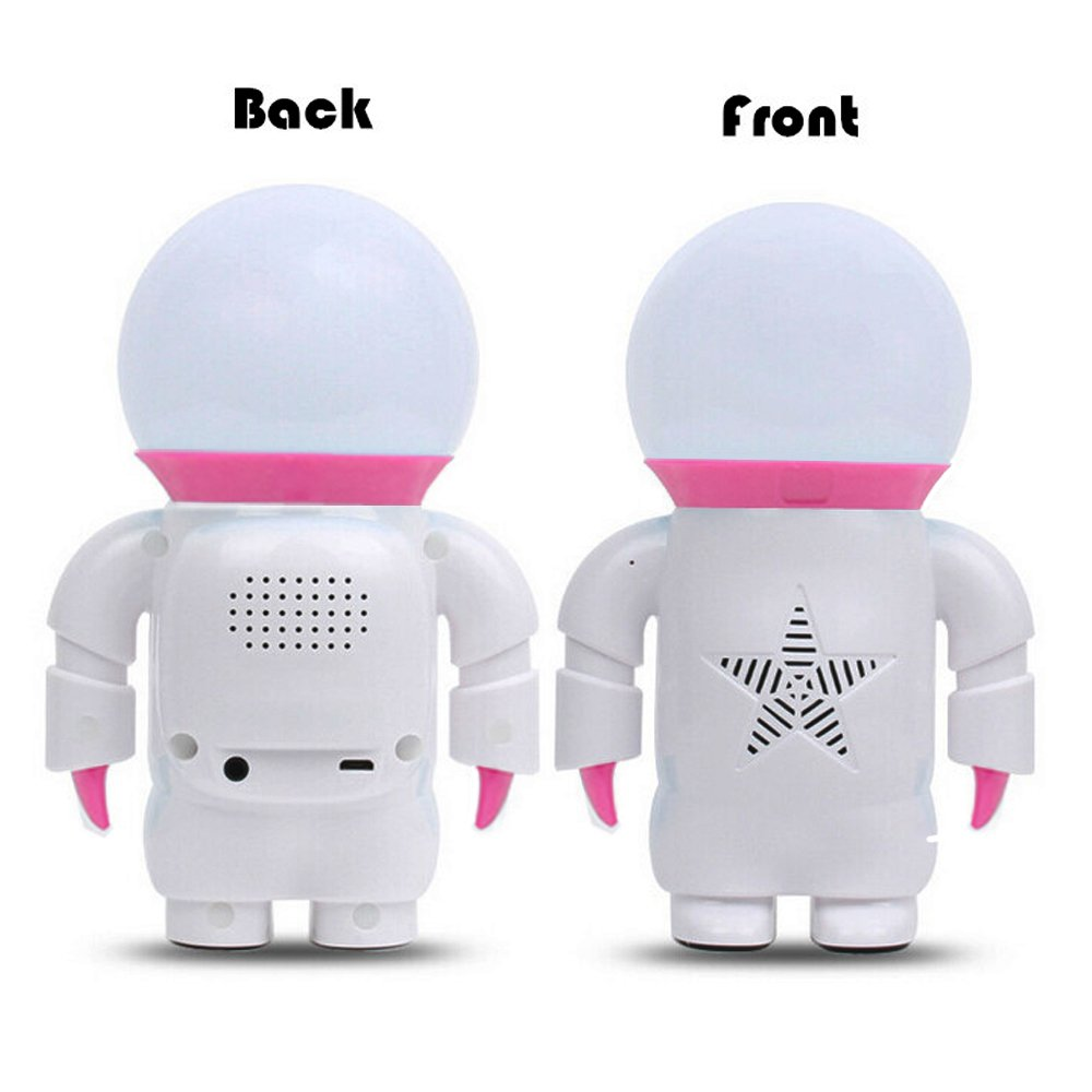 Besteker Portable USB Speaker with Spaceman Shaped Colorful LED Touch Lamp Stereo Speakers for Computer/PC/Laptop/Smart phone/Car and More. (Green) LYSB014F1BU5I-CMPTRACCS