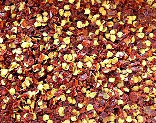 Chili Flocken geschrotet Chili extra scharf feinste Qualität Chili mit Kerne Soleilfood