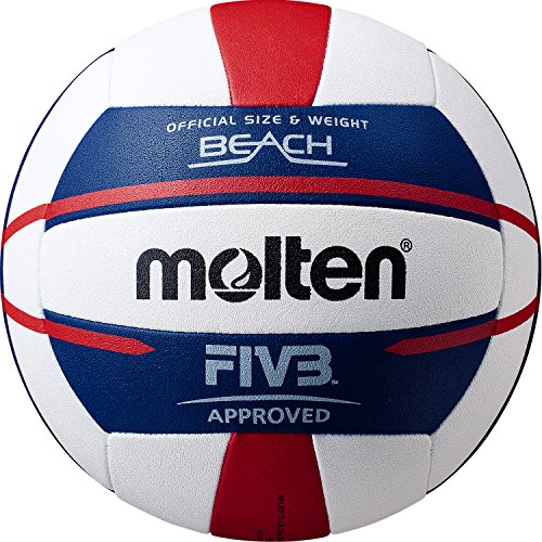 (Molten FIVB Approved Elite Beach Volleyball Red/White/Blue)