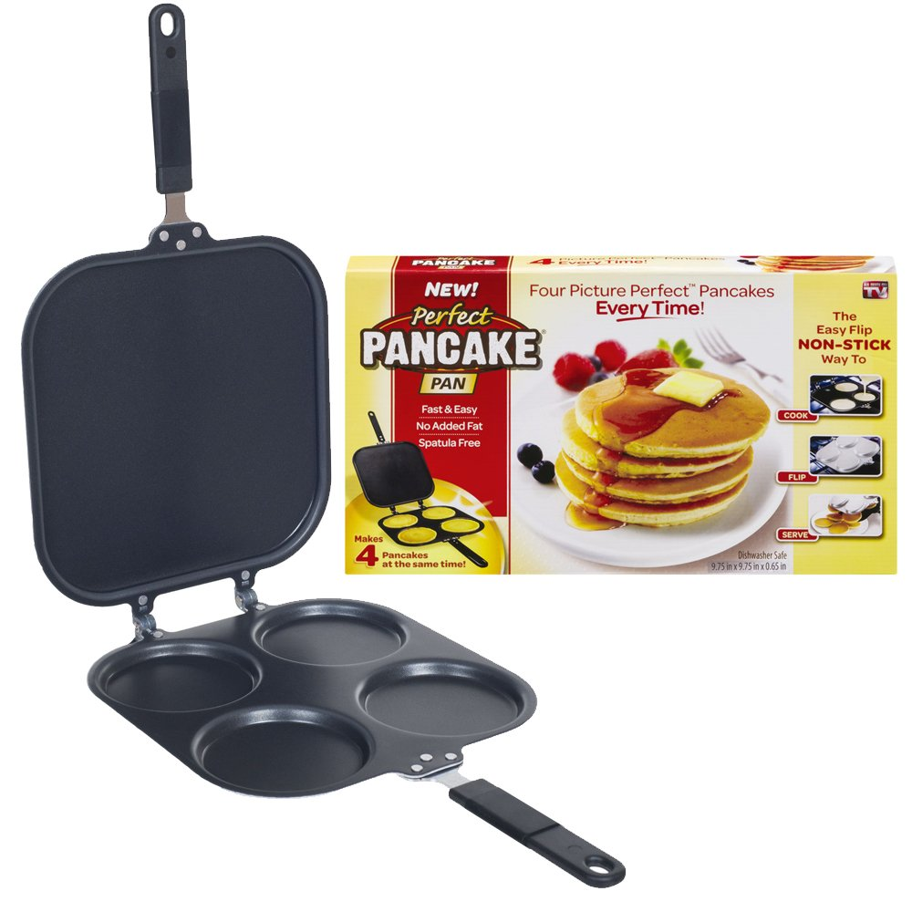 Perfect Pancake - Sartén para crepes y tortitas, superficie antiadherente: Amazon.es: Hogar