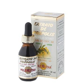 2 Pack of Polenectar Brazil Premium Bee Propolis Extract Wax Free 60 (30ml)