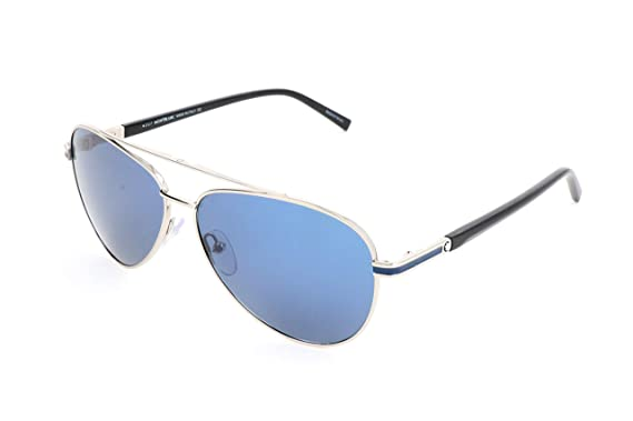 bbea86e3c Image Unavailable. Image not available for. Color: Montblanc Aviator  Sunglasses MB702S 16V Palladium/Black 59mm 702