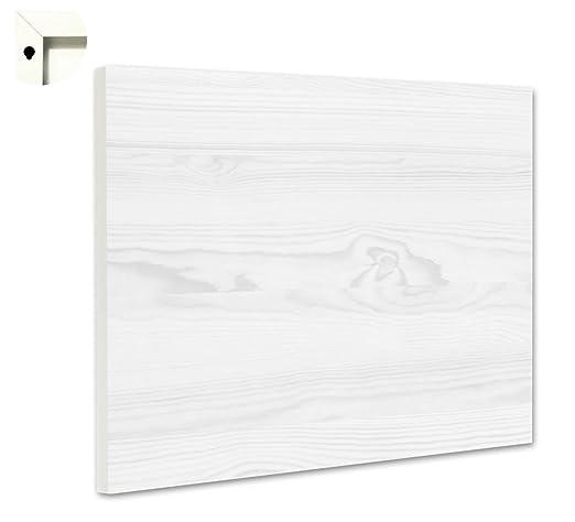 Pizarra magnética tablón con diseño de Madera Color Blanco ...