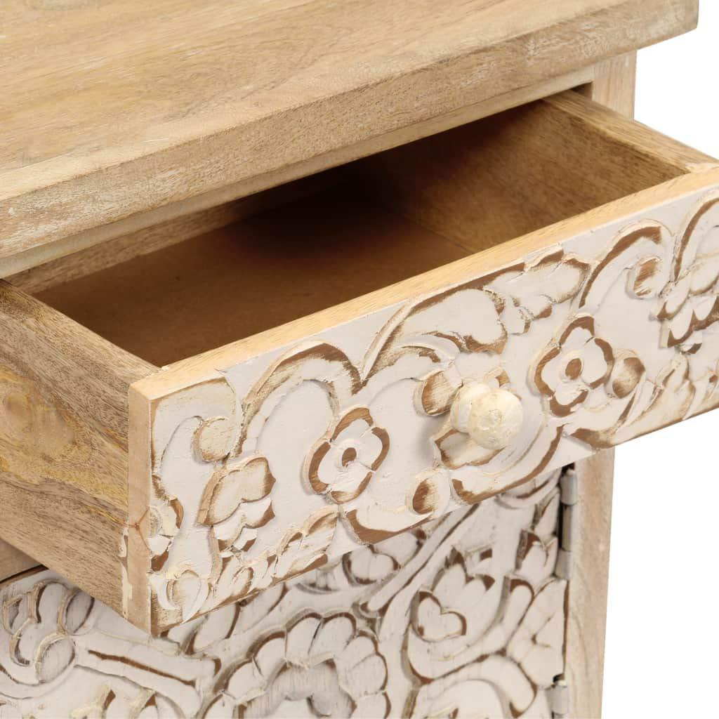 vidaXL Table de Chevet Bois Manguier Massif Chambre /à Coucher Table de Nuit