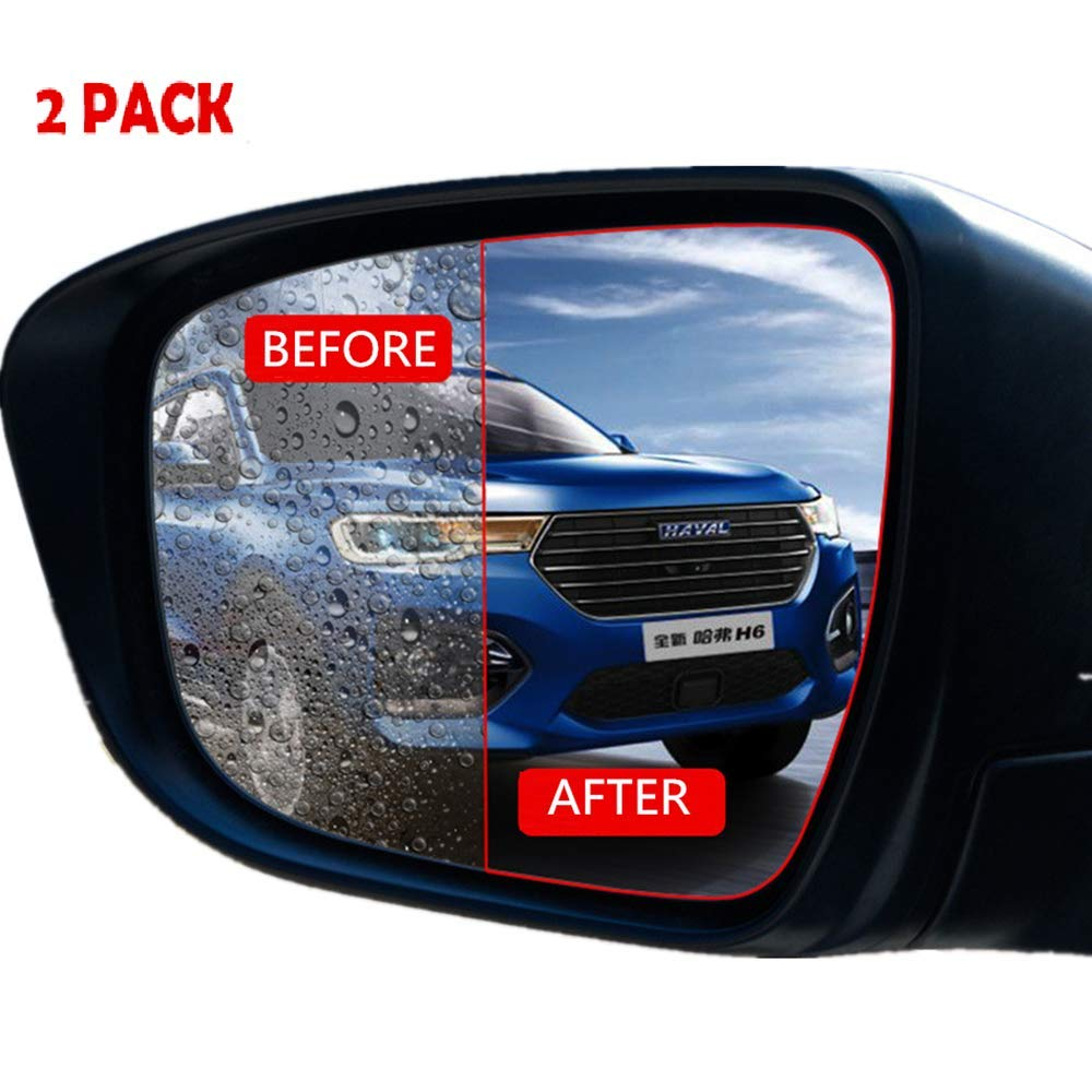 SERVERLIM Car Rearview Mirror Window Protective Film Blind Spot Mirrors Waterproofing Anti Fog Anti Glare Rainproof (elliptical, blue) LITTLEGARDEN