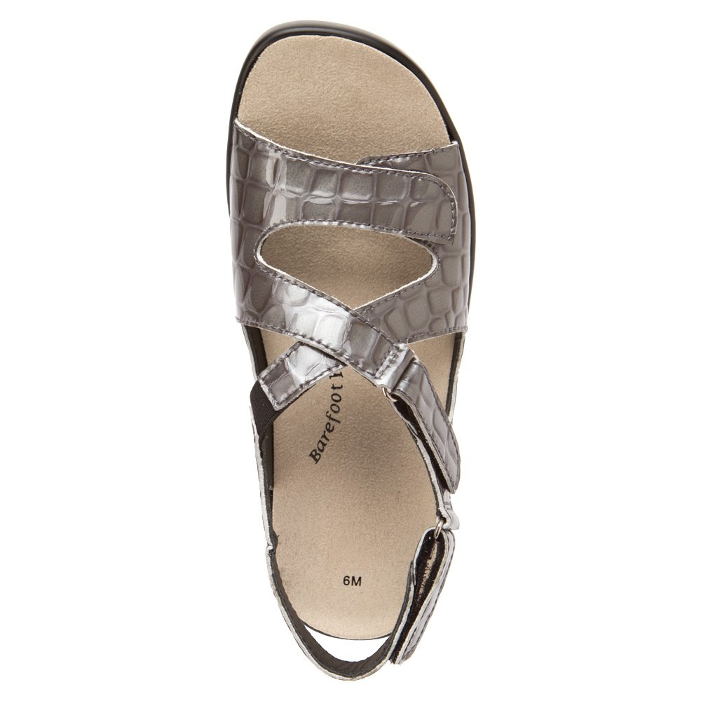 Barefoot Freedom by Drew Abby Women Open Toe Leather Ivory Sandals B00IZ9SO60 8.5 B(M) US|Grey Croc
