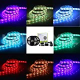 NEWSTYLE 32.8 Ft 10M 5050SMD Waterproof 300LEDs RGB Flexible Color Changing LED Strip Kit with 20-key Music Sound Sense IR Controller + Power Supply For Xmas Lighting Indoor Outdoor Backlighting Wedding Decoration