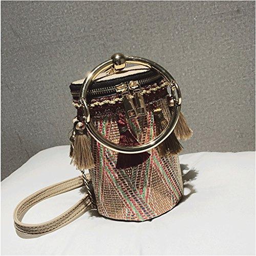 de Coreano Red Color Borla Bolso del Handbag Hombro Mensajero de Bolso Mini El Red Bolso Nuevo Moda de la la la Bolso Cadena de A AASXwq