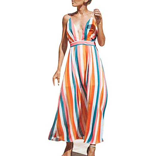 Weant Womens Dress Sale Summer Sleeveless Floral Print Swing A-Line Dress Holiday Beach Sundress for Ladies Maxi Long Dress Evening Party Dress Cocktail Horsewear Sports & Outdoors