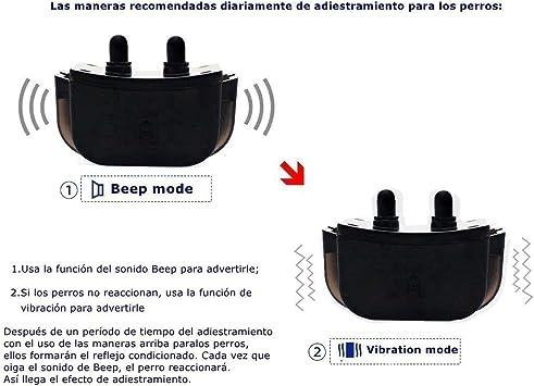 GLEADING Collar De Adiestramiento para Perros Mando. Rango De 300 ...