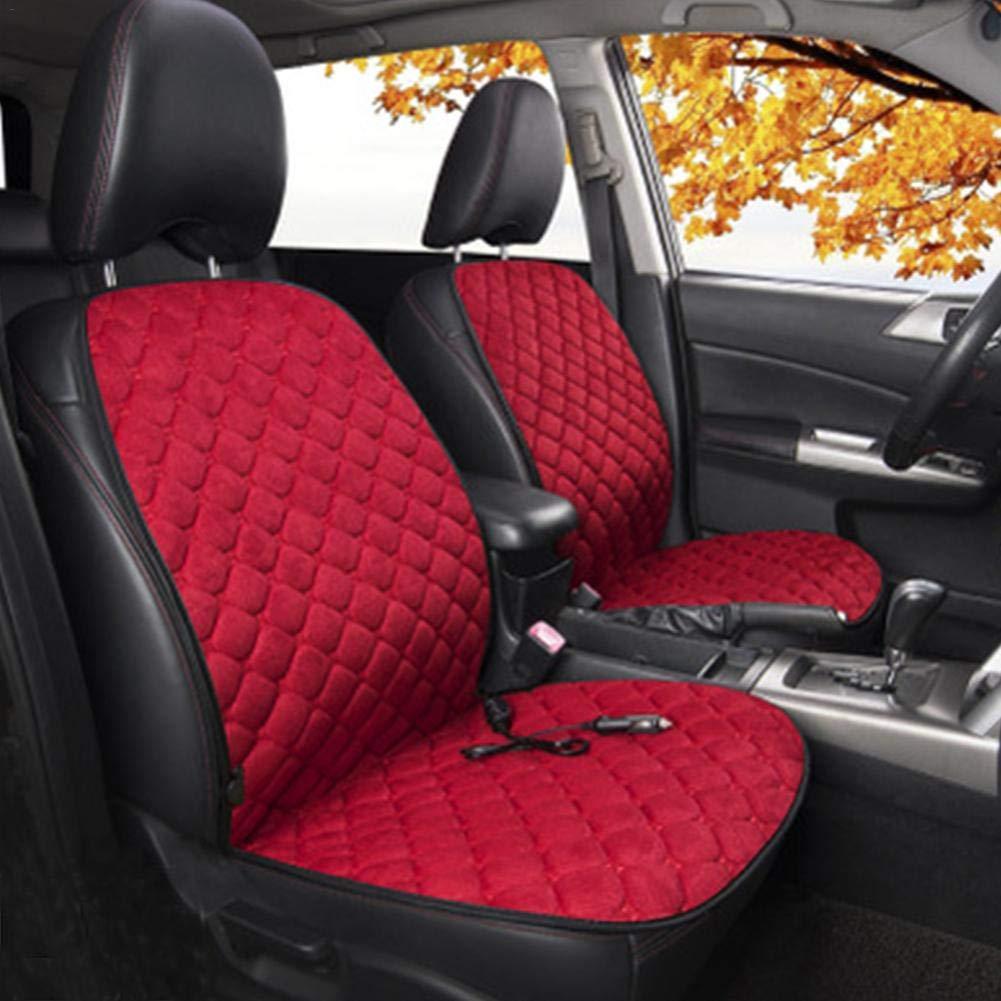 Auto-Sitzheizung Auto-Heizkissen 12V Auto-Winter-warme Pl/üsch-Auto-Matte Auto-Universalheizung-Sitzkissen Autositz-Heizkissen konstante Temperaturschutz-Funktion
