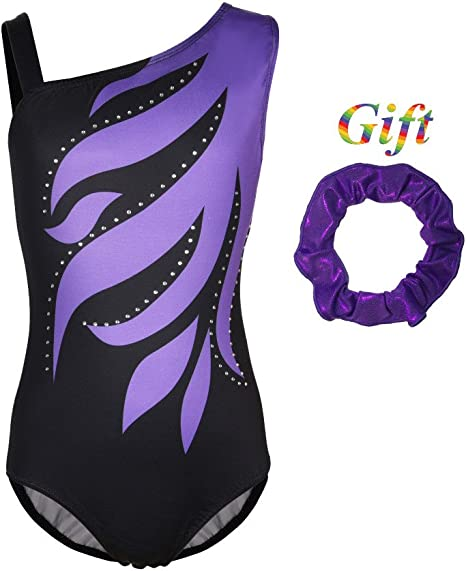 Kids Gymnastics Leotard Jumpsuit Girl Ballet Sleeveless Shorts Dancewear Costume