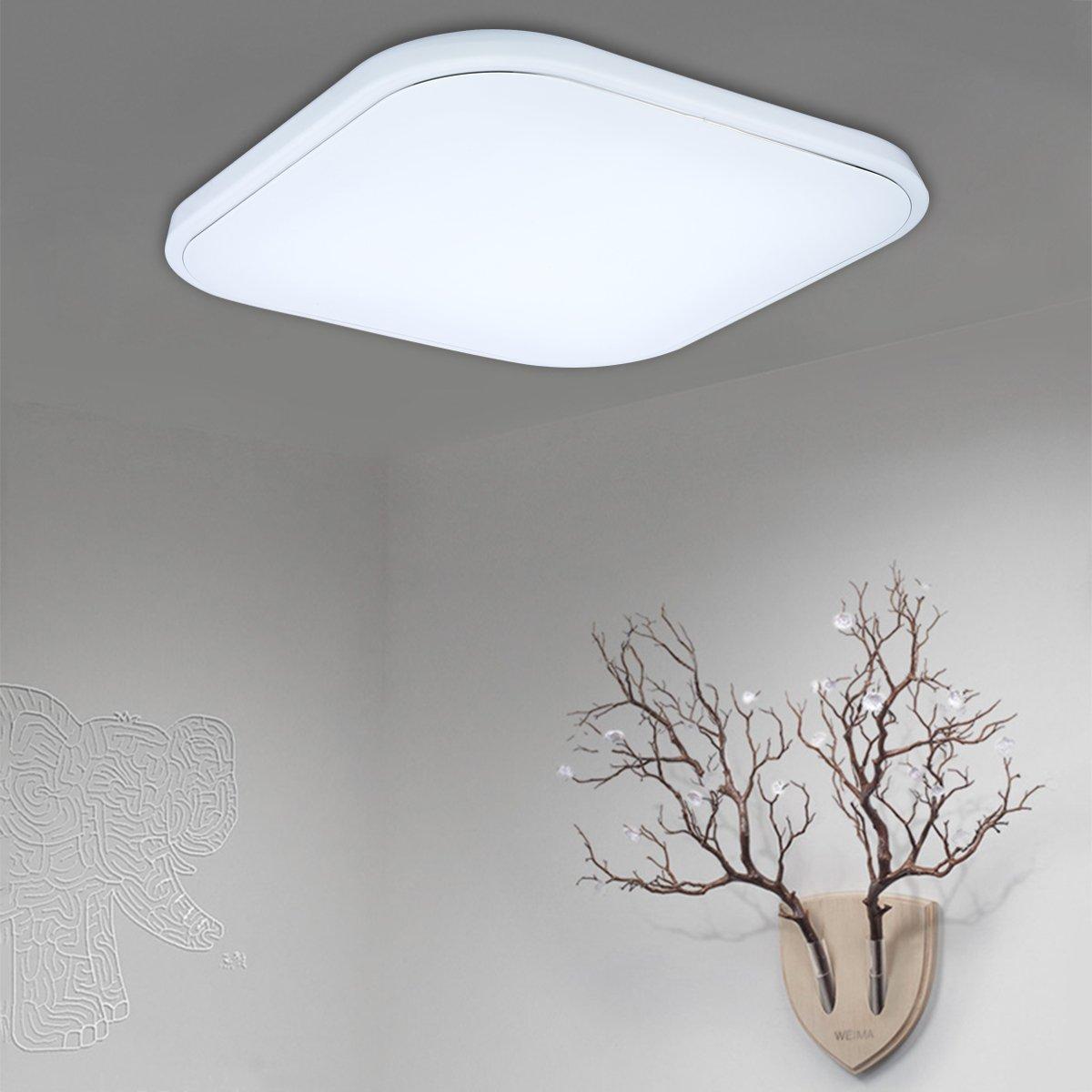 Floureon CL-X125 36W 144 LEDs Quadrat LED Deckenleuchte ...