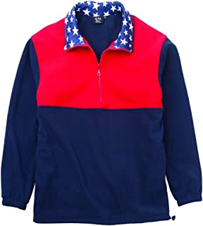 product image for Akwa Men's Patriotic 1/2 Zip Pullover