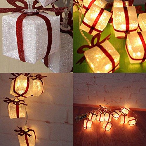 NPLE--2M 10LED Christmas Gift Box Party Light String Luminous Xmas Holiday Decoration