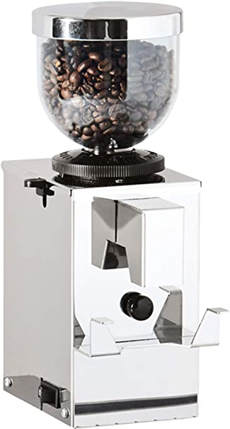 Amazon Com La Pavoni Mpi Isomac Burr Coffee Grinder 250 Gram Hopper Multiple Grind Settings Instant Auto Button Starts Grinding Manual On Off Switch Kitchen Dining