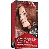 Revlon Colorsilk Beautiful Color, Permanent Hair Dye with Keratin, 100% Gray Coverage, Ammonia Free, 55 Light Reddish…