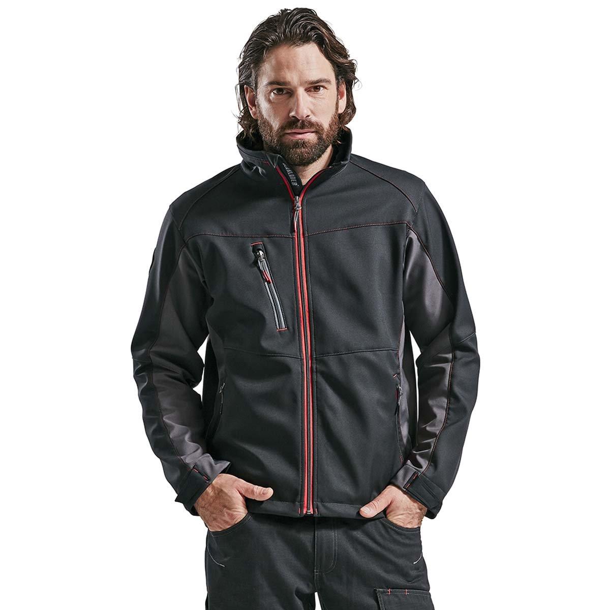 Blaklader Workwear Softshell Jacket Black//Red S