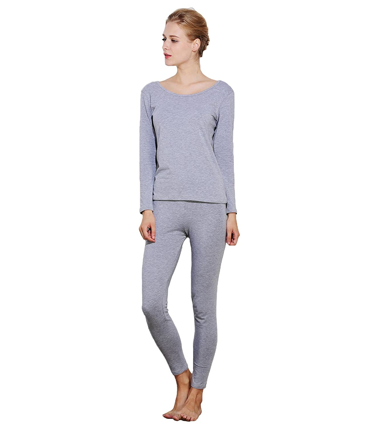 Liang Rou Women's Scoop Neck Thermal Underwear Long Johns Set Baifu International Limited MS560-P