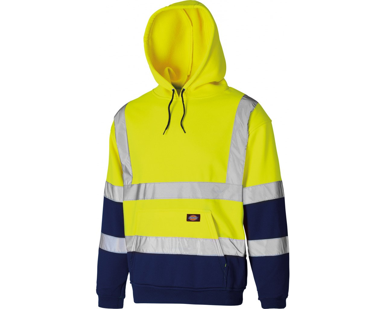 Dickies SA22095-OR-XXL Two Tone Hi-Vis Hoodie, 2X-Large, Orange