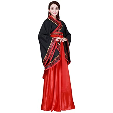 2a8749b765 Amazon.com  ZooBoo Han Fu Traditional China Tang Fashion Classic Court  Princess Costume for Women  Clothing
