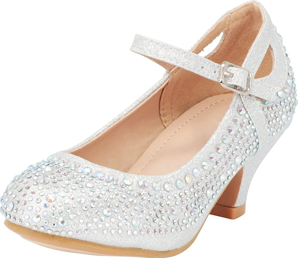 7019702a18 EASY ON/OFF: Slip-on style with adjustable buckled Mary Jane strap.  MEASUREMENTS: Approx. 1.5