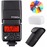 EACHSHOT Godox TT350S 2.4G HSS 1/8000s TTL GN36 Wireless Speedlite Flash for Sony Mirrorless DSLR A7 A7R A7S A7-II A7-III A7R-II A7R-III A7S-II A6300 A6000 with Color Filter