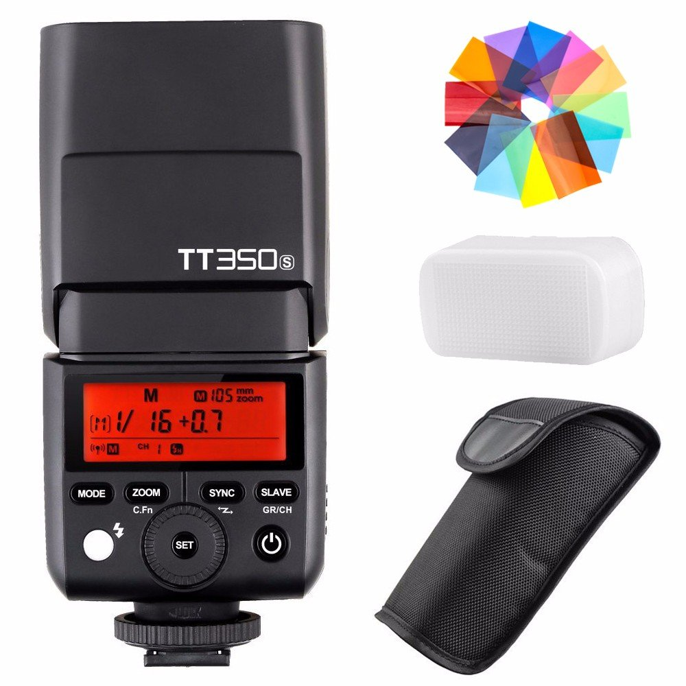 EACHSHOT Godox TT350S 2.4G HSS 1/8000s TTL GN36 Wireless Speedlite Flash for Sony Mirrorless DSLR A7 A7R A7S A7-II A7-III A7R-II A7R-III A7S-II A6300 A6000 Color Filter by EACHSHOT