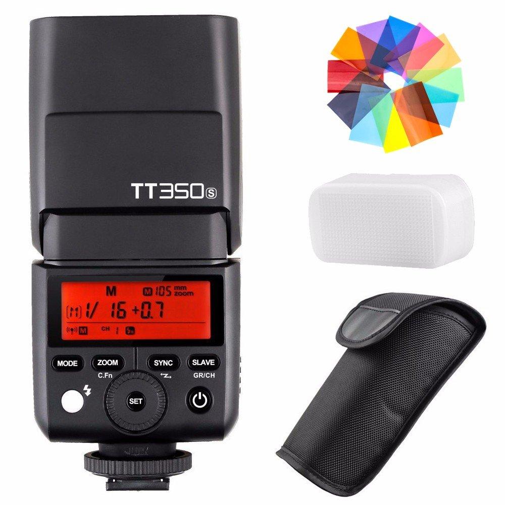 EACHSHOT Godox TT350S 2.4G HSS 1/8000s TTL GN36 Wireless Speedlite Flash for Sony Mirrorless DSLR A7 A7R A7S A7-II A7-III A7R-II A7R-III A7S-II A6300 A6000 with Color Filter