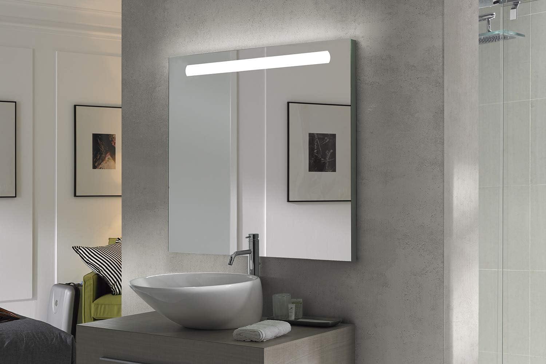 Espejo baño con Luz SHINE 100x70cm.6W Espejo de alta calidad. Led ...