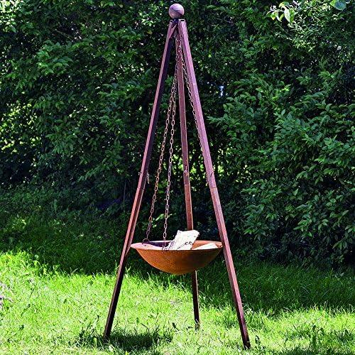 Brasero con parrilla de hierro Stand Nuna 210 cm de altura, Jardín Deko, Brasero, verano, barbacoas, Jardín: Amazon.es: Jardín