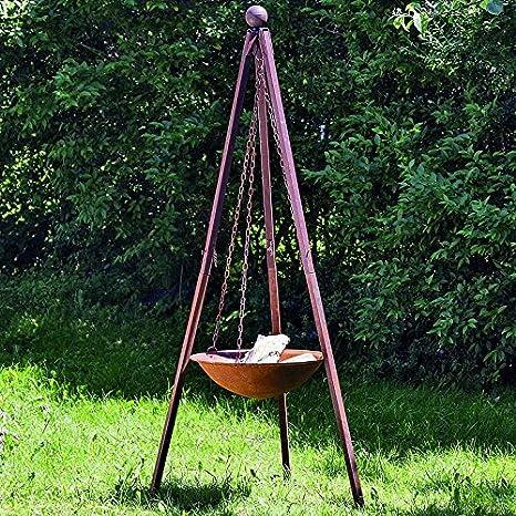 Brasero con parrilla de hierro Stand Nuna 210 cm de altura ...