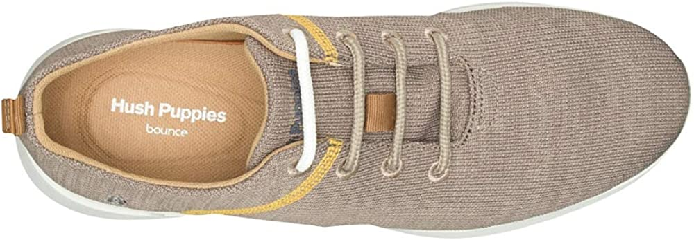 Hush Puppies Men's Cooper Lace Up Trainers Taupe Knit