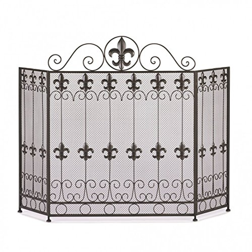 Metal Fireplace Screen Modern Three Panel French Revival Fireplace Screens Black